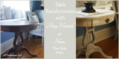 table transformation with Amy Howard at Home One Step Paint