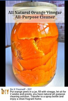 All Natural Orange Vinegar All Purpose Cleaner