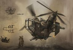 Steam chopper Picture  (2d, sci-fi, vehicle, helicopter)