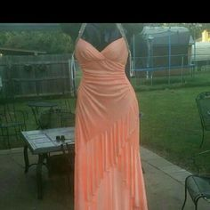 NWT prom dress NWT coral high low prom dress with open back  Made out of silk Steve Madden Dresses High Low