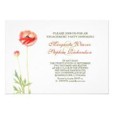 elegant beautiful engagement party invitations