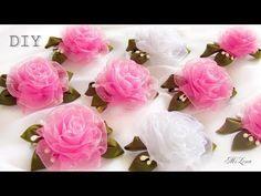 Organze Kurdele oyaları& KURDELEDEN NAZAR GÜLÜ ÇİÇEĞİ&Forex flower,health flower, summer flower , - YouTube
