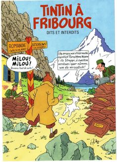 Tintin à Fribourg - Exposition du 7 juin au 26 octobre - Le blog de l'association