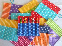 Crayon Roll - Party Favor - Children's Birthday Party - Rainbow Colors - 10 Pack. $32.00, via Etsy.