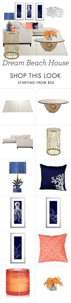"""""""Beach Elegance"""" by kej110-1 ❤ liked on Polyvore featuring interior, interiors, interior design, home, home decor, interior decorating, WALL, Capri Blue and Ethan Allen"""
