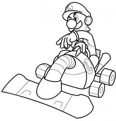 luigi coloring pages printables