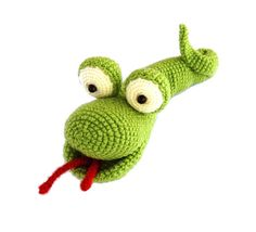 au crochet de serpent, serpent vert amigurumi, peluche serpent, joli cadeau pour les enfants, jouet, vert printemps, reptiles, plushie serpent, serpent sur Etsy, $32.68 CAD