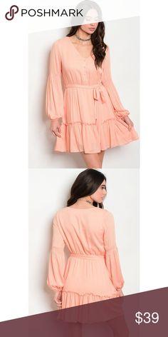 29533517b8e I just added this listing on Poshmark  🆕 RACHELLE PEACH RUFFLE DRESS.   shopmycloset  poshmark  fashion  shopping  style  forsale  Dresses   Skirts