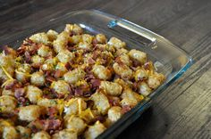 Bacon, Sausage, Cheese and Tater Tot Breakfast Bake | 30 Bacon Recipes That Prove It's The Best Food On Earth