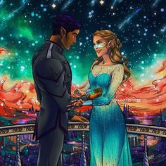 A Court Of Wings And Ruin, A Court Of Mist And Fury, Feyre And Rhysand, Sara J Maas, Victoria Aveyard, Sarah J Maas Books, Cute Couple Art, Crescent City, Look At The Stars