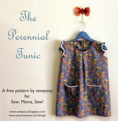 The Perennial Tunic Tutorial and free pattern // Sew Pony for Sew, Mama, Sew