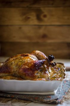 Weekend dinner idea: roast chicken with apricots and apricot habanero jam.