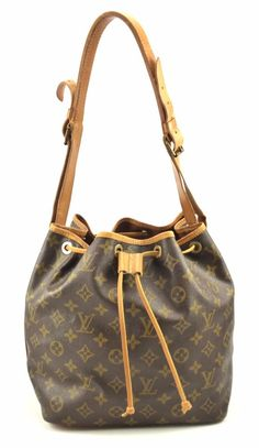 Louis Vuitton Authentic Petit Noe Monogram Canvas Women s Shoulder Bag    eBay c0b54cb28c6