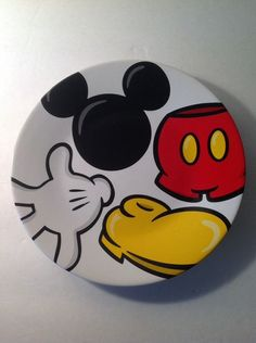 """Mickey Mouse Body Parts Disney  Salad Plate 8"""""""