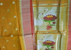 Paithani Saree in unusual dull yellow shade... Mmm.... delicious