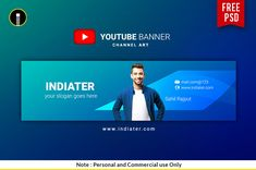 Youtube Banner Design, Youtube Banner Template, Id Card Template, Youtube Banners, Free Banner, Free Cloud, Youtube Channel Art, Free Flyer Templates, Social Media Template