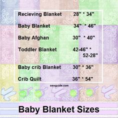 Baby diy projects sewing receiving blankets New Ideas Crib Blanket Size, Crib Quilt Size, Quilt Sizes, Crib Quilts, Baby Quilts, Blanket Sizes, Lap Blanket, Size Of Baby Quilt, Rag Quilt