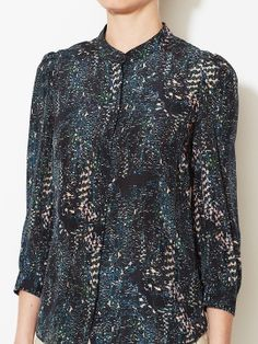 Silk Standing Collar Top from See by Chloé on Gilt