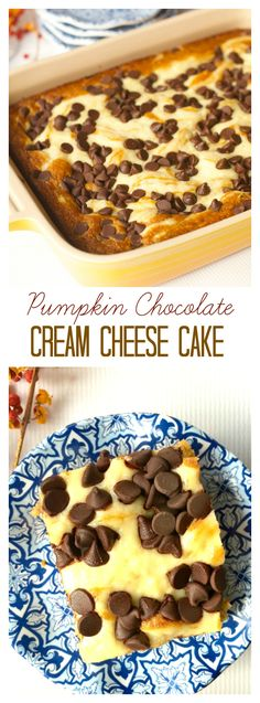 Pumpkin Chocolate Cream Cheese Cake for easy holiday entertaining