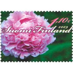 Postimerkki: Pioni | Suomen postimerkit Stamps, Flowers, Seals, Postage Stamps, Stamp