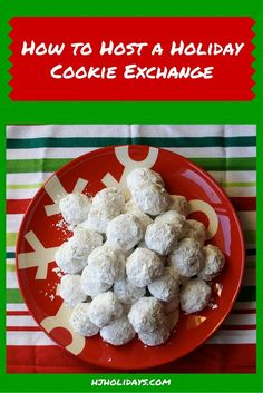 To take a bit of the pressure off this holiday season, why not host a Christmas cookie exchange? A holiday cookie swap not only provides you with the perfect opportunity to visit with friends and family during the holiday season, it also takes a lot of th