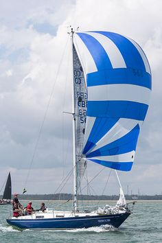 The Contessa 32 yacht 'Gaulin' racing during Cowes Week