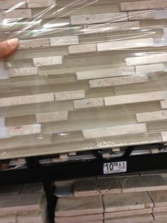 Kitchen Tiles Lowes kitchen backsplash: american olean delfino stone icy mist mixed
