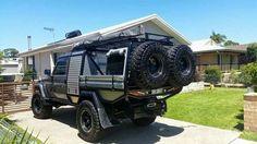 Survival camping tips Landcruiser Ute, Landcruiser 79 Series, Land Cruiser Pick Up, Toyota Land Cruiser, Car Camper, Off Road Camper, Campers, Truck Flatbeds, 4x4 Trucks