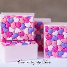 """Natural soap COLD """"Love,love,love """" #steso #creative #soap #soapshare"""