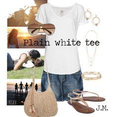 Plain white tee, created by jenniemitchell