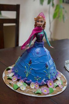 Anna Frozen Birthday Cake Decor