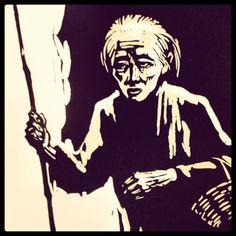"""Ilustración tomada del libro """"Novelas Escogidas de Lu Sin"""""""