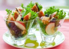 Salade sucré salé en verrine