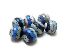 7 round striped multicolor beads original by OrlyFuchsGalchen