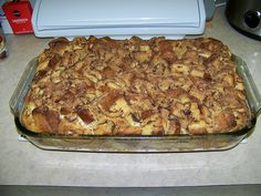 French Toast Casserole Stuffed w/ Apples and Cream Cheese – HEAVENLY