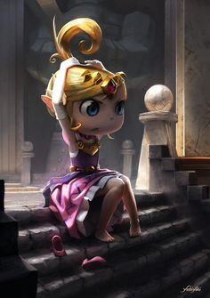 Princess Zelda | Wind Waker by Cassio Yoshiyaki