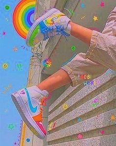 Rainbow Aesthetic, Aesthetic Indie, Bad Girl Aesthetic, Aesthetic Collage, Aesthetic Pics, Aesthetic Yellow, Aesthetic Vintage, Retro Wallpaper, Aesthetic Iphone Wallpaper