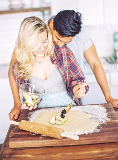Capturing an everyday type of moment - cooking together.