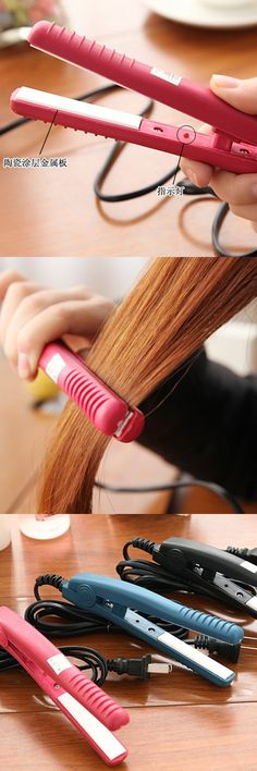Mini Hair Styler Roller Wand Curly Curls Hair Curlers Curling Wand Straighting Curling Irons