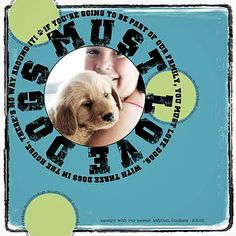 Dog - Scrapbook.com | Scrapbooking | Pinterest | Layout, Dogs and ...