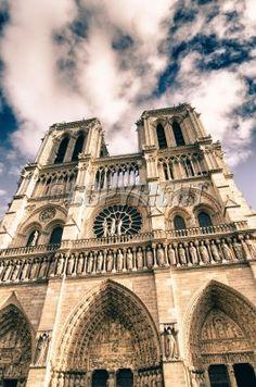 Colors of Notre Dame Cathedral in Paris Notre Dame, Cathedral, Paris, Colors, Building, Travel, Royalty Free Images, Montmartre Paris, Viajes