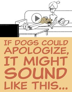 If dogs could apologize, it might sound like this!