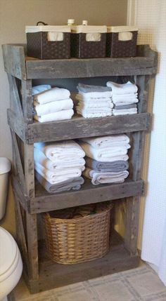 #Pallet Bathroom #Shelf  Storage Unit - #DIY: Top 10 Recycled Pallet ideas and Projects | 99 Pallets