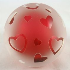Ruby Hearts Paperweight