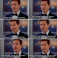 Brooklyn Nine-Nine - Brooklyn 9, Brooklyn Nine Nine, Charles Boyle, Scary Terry, Jake And Amy, Tv Show Quotes, Quotes Quotes, Jake Peralta, Andy Samberg