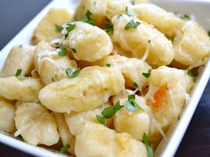 Simple Ricotta Gnocchi- super easy and quick to make, very inexpensive, just add garlic and butter for sauce and a small side and it makes a great dinner