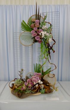 one of my exhibits in Kent Area Show. Modern Flower Arrangements, Corporate F. Contemporary Flower Arrangements, Tropical Flower Arrangements, Creative Flower Arrangements, Church Flower Arrangements, Beautiful Flower Arrangements, Unique Flowers, Flower Centerpieces, Flower Decorations, Purple Flowers