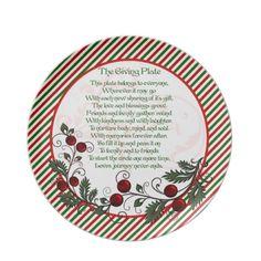 Festive Family & Friends Christmas Giving Plate
