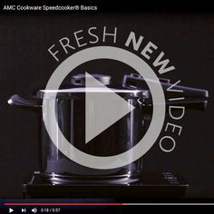 Using an AMC Speedcooker® saves you both time and money, and is a must-have item for warming winter meals. This short video shows you the AMC Speedcooker® basics. Winter Meals, Winter Food, Cookware, Stainless Steel, Products, Diy Kitchen Appliances, Kitchen Gadgets, Gadget, Utensils