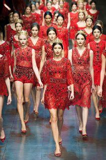 Fade To Black: Baroque Romanticism @ Dolce & Gabbana